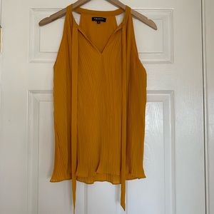 Morgan de Toi Marigold Sleeveless Blouse